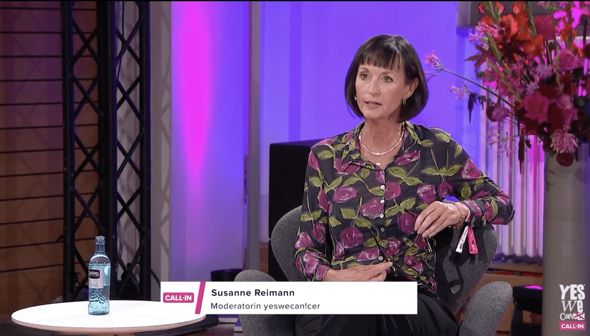 Yeswecan!cer Call-In Palliativmedizin mit Susanne Reimann